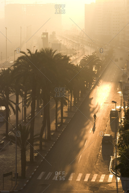 Corniche at sunrise, Tangier, Morocco