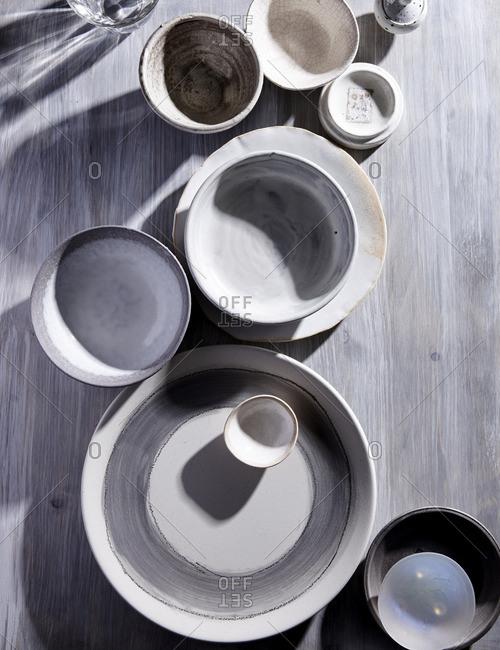 White and gray ceramics