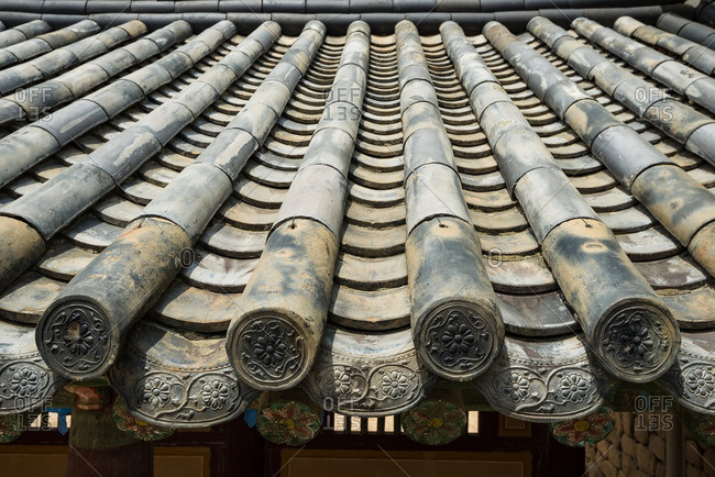Roof of a South Korean temple