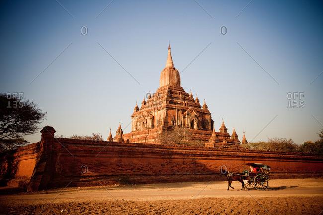 Bagan ancient city Kingdom of Pagan temples and pagodas in Myanmar