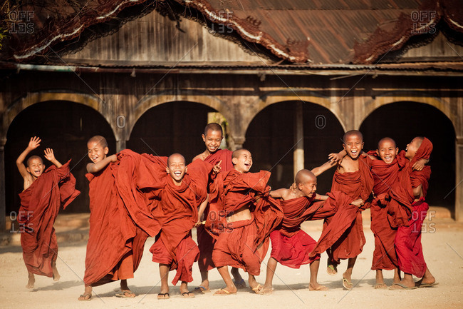 Monks at Wai Gyi Monastery in Kalaw, Myanmar