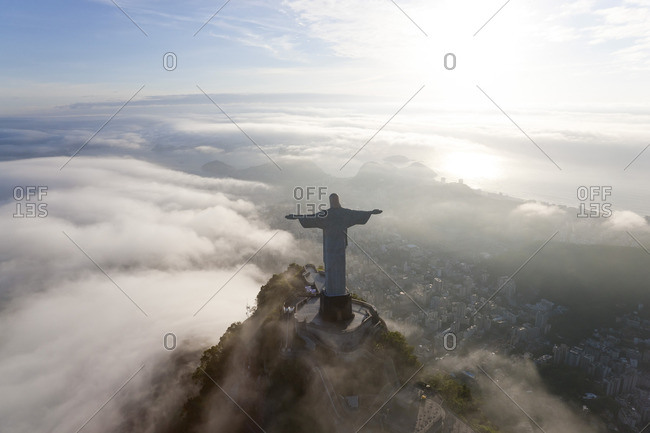 Rio de Janeiro, Brazil - December 5, 2011: Christ the Redeemer, Corcovado mountain, Brazil