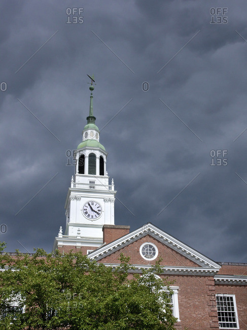 Baker Library Bell Tower at Dartmouth University in Hanover, New Hampshire