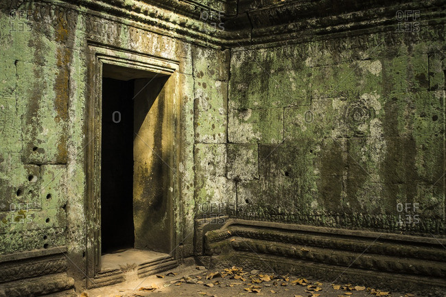 A doorway leading through one of the temples of Angkor