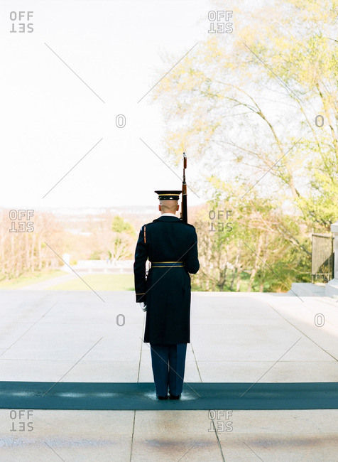 Guard in Arlington National Cemetery