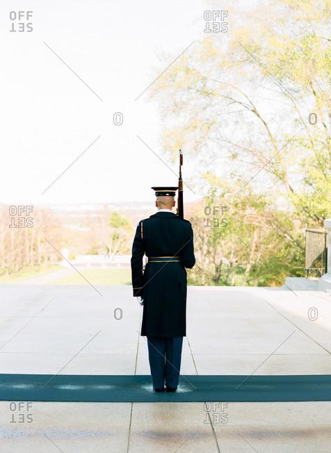 Guard in Arlington National Cemetery