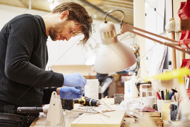 A furniture workshop making bespoke contemporary furniture pieces