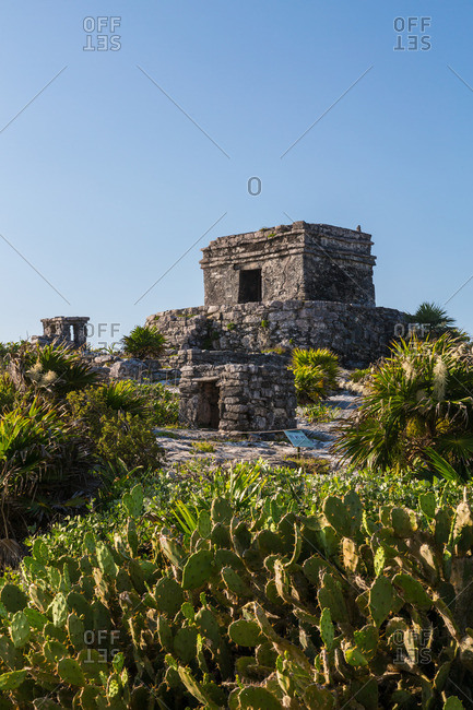 Mayan temple in Tulum, Mexico