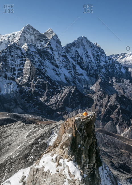 Nepal, Himalaya, Solo Khumbu, Camp 2, Ama Dablam South West Ridge