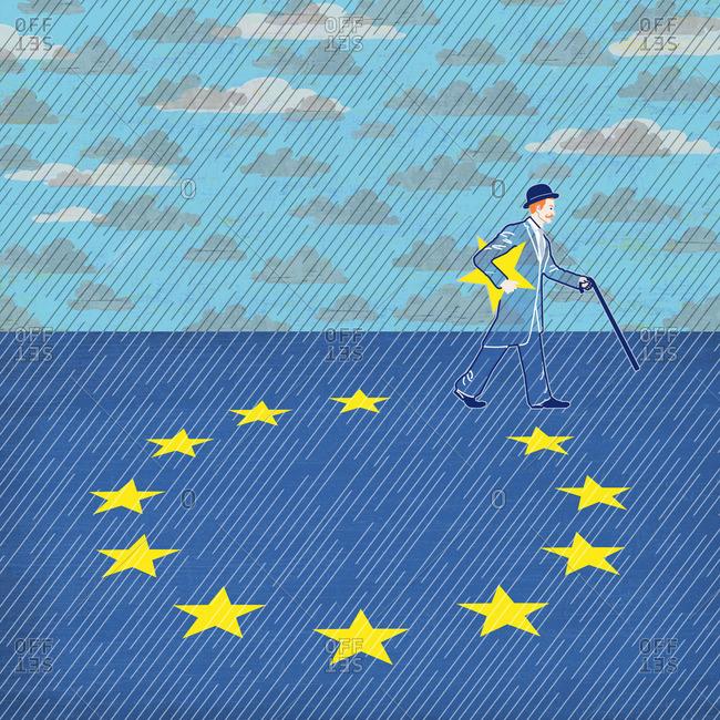 Englishman walks away with EU star