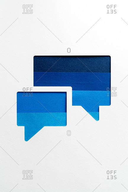 Conversation bubbles on white background