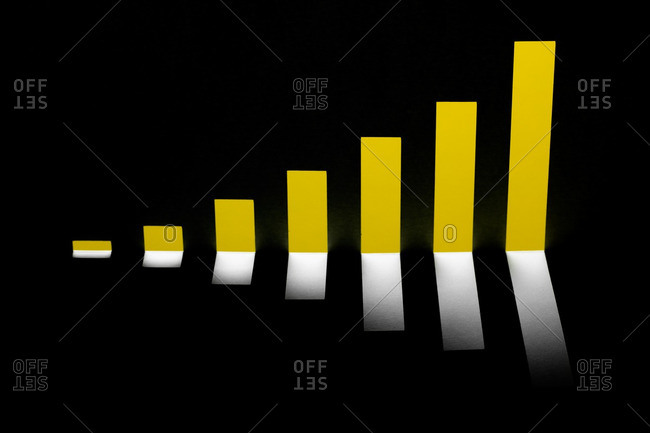 Bar chart on black background