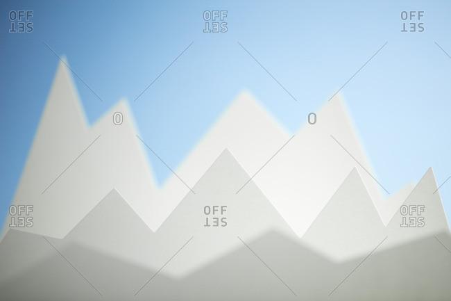 Line graphs forming peaks