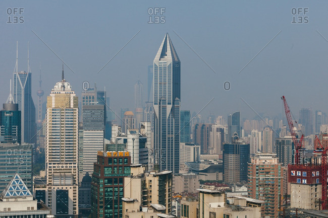 June 5, 2015: JW Marriot building and the Shanghai skyline
