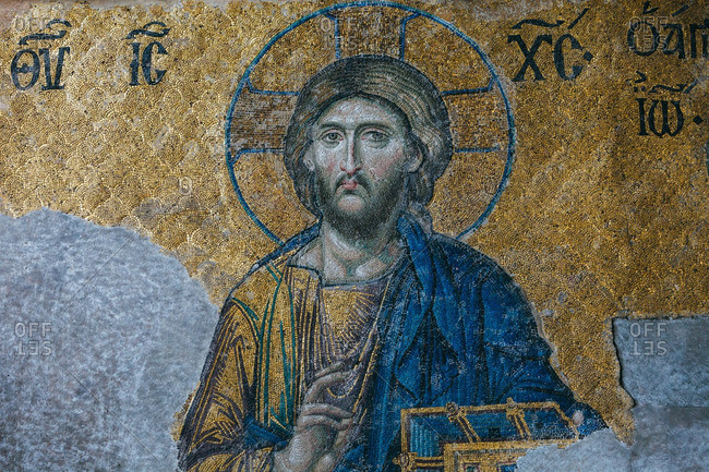December 21, 2014: Christ Pantocrator inside Hagia Sophia