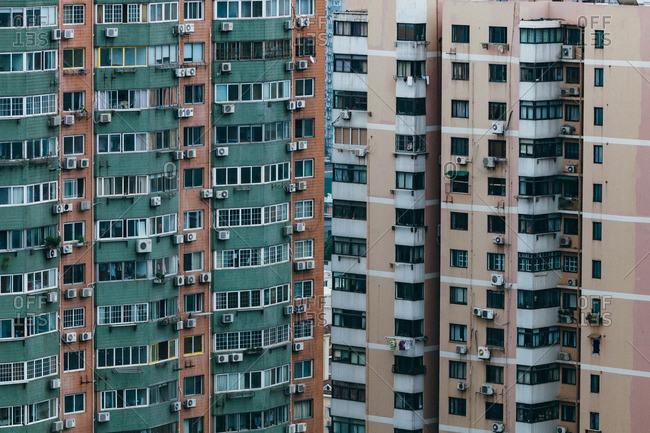 June 18, 2015: Buildings in downtown Shanghai