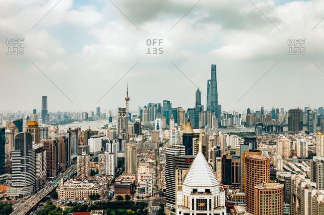 June 19, 2015: Buildings in Shanghai, China