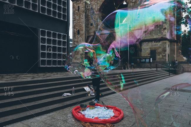September 14, 2015: Berlin street performer