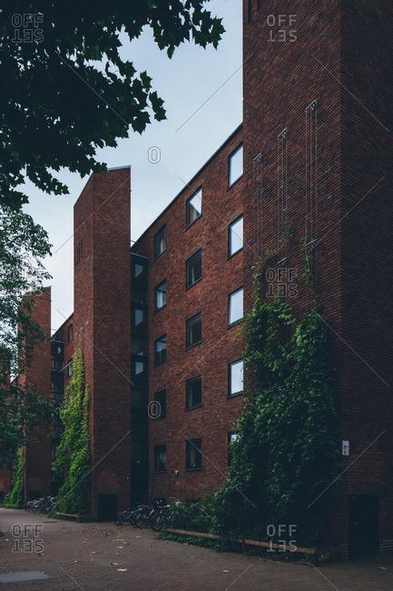 September 17, 2015: Brick structure in Copenhagen, Denmark