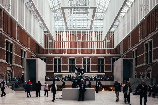 September 23, 2015: Interior of the Amsterdam Rijksmuseum