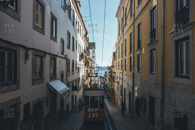 October 14, 2015: Tramway in Lisbon, Portugal
