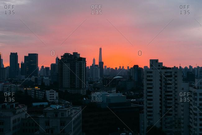 July 19, 2014: Sunrise over Shanghai, China