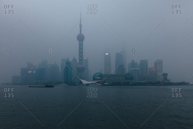 January 24, 2013: Shanghai Pudong skyline