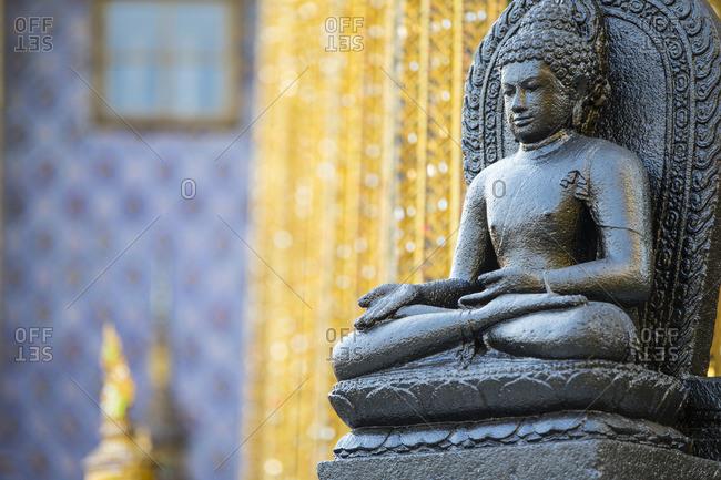Seated Buddha detail, Grand Palace, Bangkok, Thailand, Southeast Asia, Asia