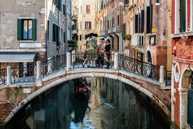 Veneto, Italy - February 11, 2015: The canals of Castello in Venice, UNESCO World Heritage Site, Veneto, Italy, Europe