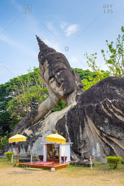 Religious statues at Buddha Park (Xieng Khuan), Vientiane, Laos, Indochina, Southeast Asia, Asia