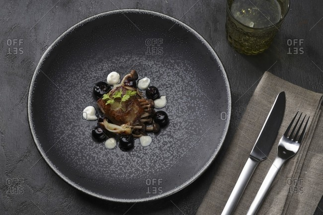 Duck liver with blueberries - Offset