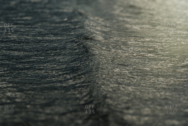 Close-up of an ocean swell