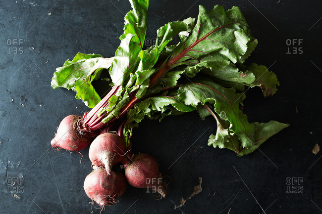 A cluster of beets