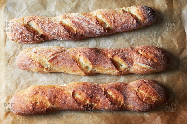Three baguette loaves - Offset Collection