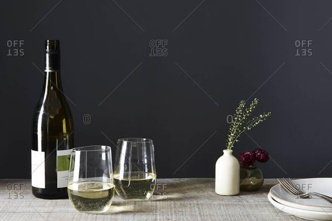 Glasses of sauvignon blanc