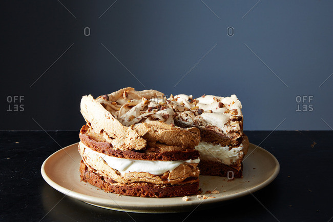 A layered walnut cake