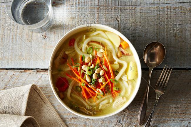 A chicken noodle soup