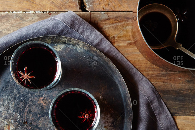 Mulled wine being served