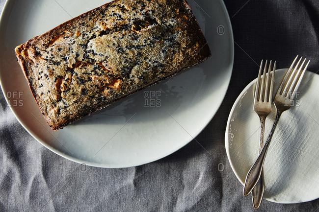 Black sesame loaf cake