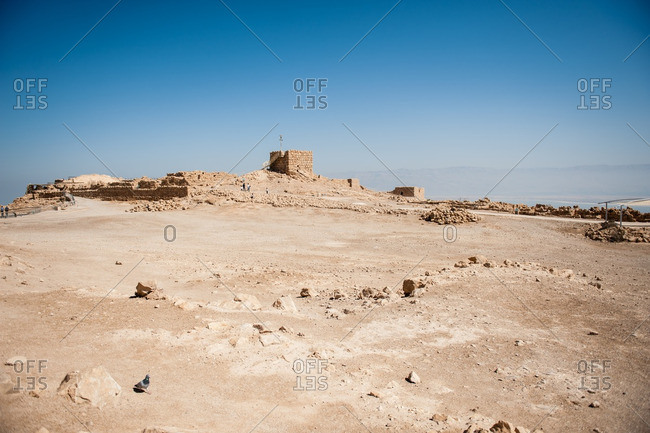 Ancient fortification of Masada in Israel