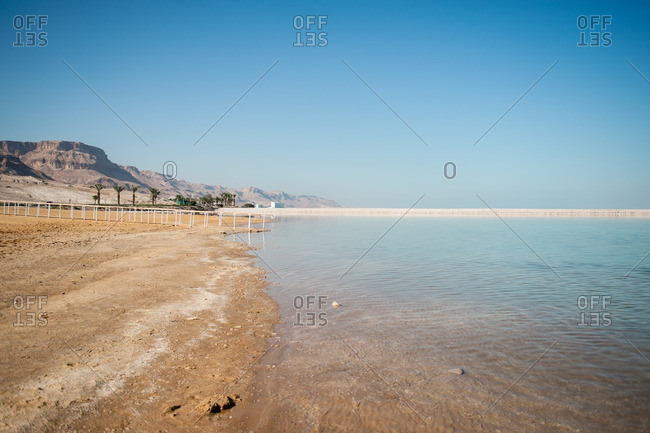 Shoreline of the Dead Sea in Israel