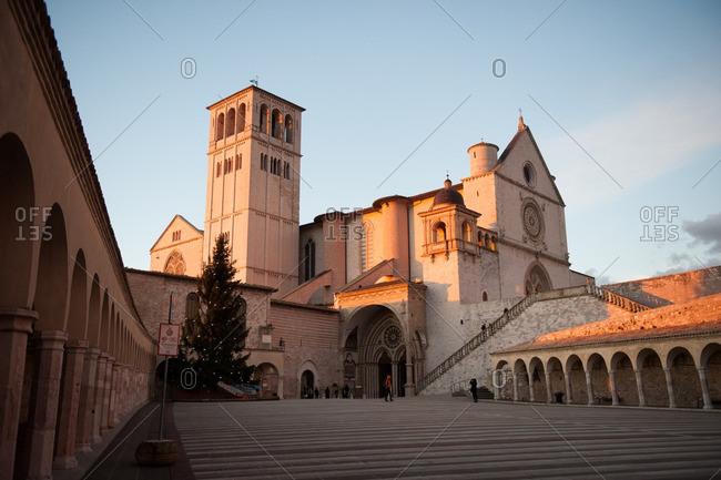 Courtyard of Basilica of San Francesco d'Assisi