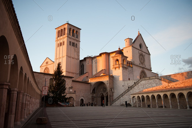 Courtyard of Basilica of San Francesco d'Assisi