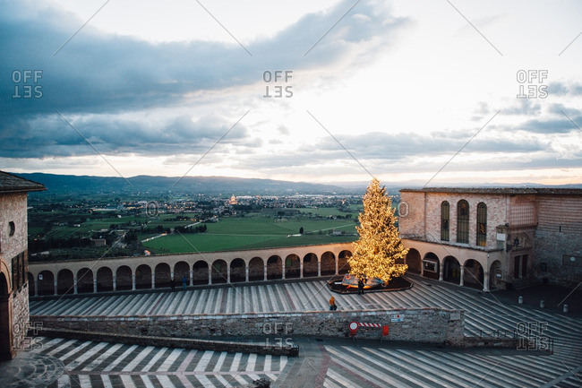 Plaza of Basilica of San Francesco d'Assisi, Italy