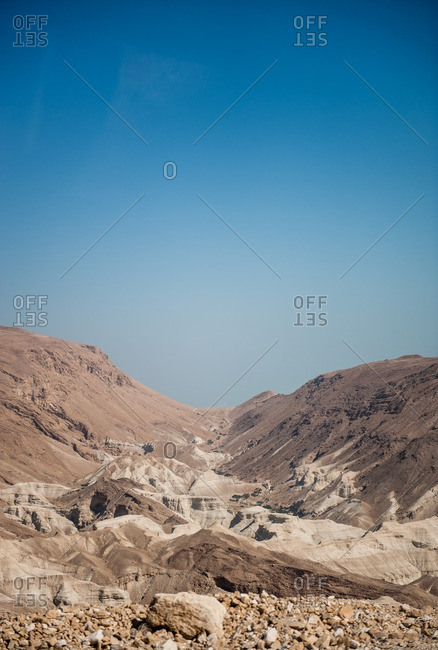 Mountains and desert landscape in Israel