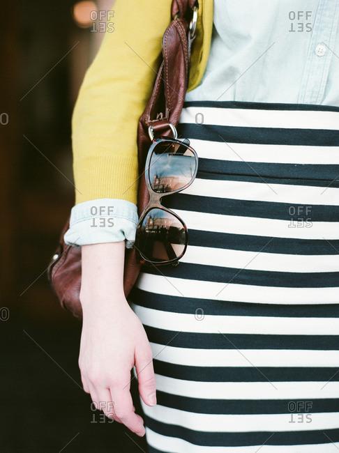Hip of a stylish woman
