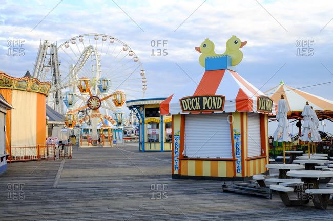 Wildwood, New Jersey, USA - October 23, 2013: A closed seaside amusement park