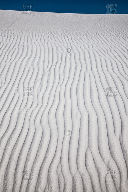 Wind ripples on sand dune in White Sands National Monument