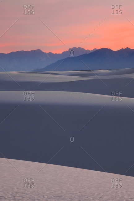 Sunset sky in White Sands National Monument