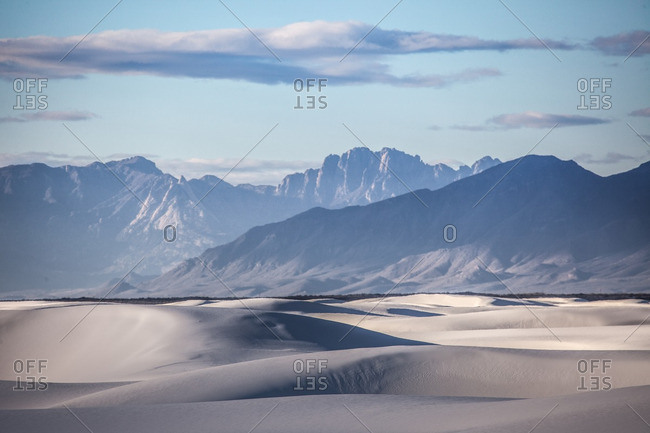 Morning light and shadow on San Andres Mountains and White Sands National Monument